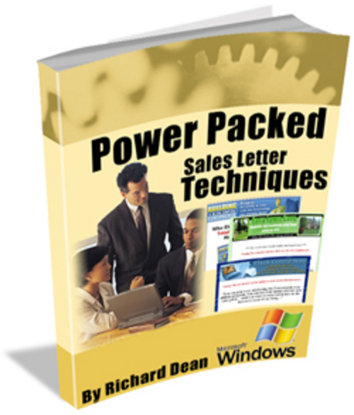Pay for Power Packed Sales letter Techniques plr