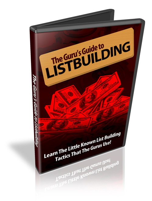 Pay for Gurus Guide to List Building- Video Series plr