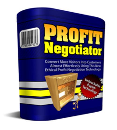 Pay for Profit Negotiator (PLR)