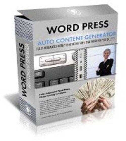 Pay for Wordpress - Auto Content Generator plr
