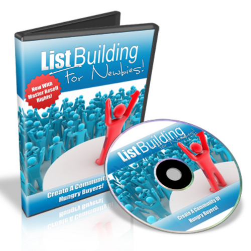 Pay for List Building for Newbies - Video Series plr