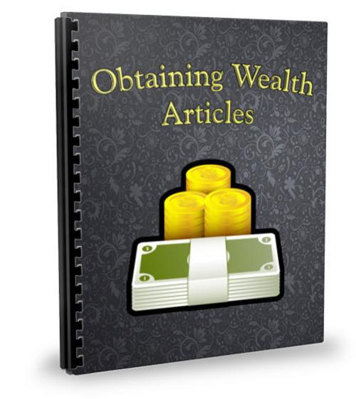 Pay for 25 Wealth Building Articles - Dec 2011 (PLR)