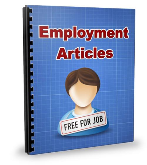 Pay for 20 Career Articles - Jun 2011 (PLR)