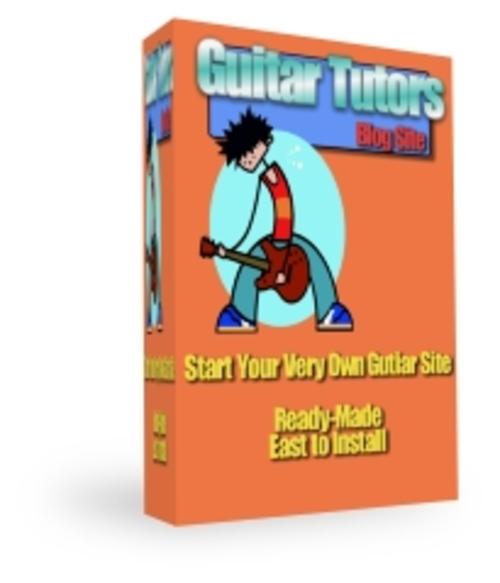 Pay for Guitar Tutors Blog Site (Wordpress 2.7)