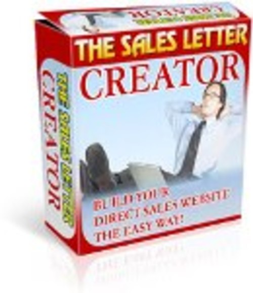 Pay for Sales Letter Creator (PLR)