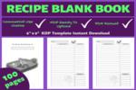 Thumbnail Blank Recipe Book Amazon KDP Interior