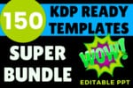 Thumbnail 150 Ready Templates Amazon KDP Super Bundle