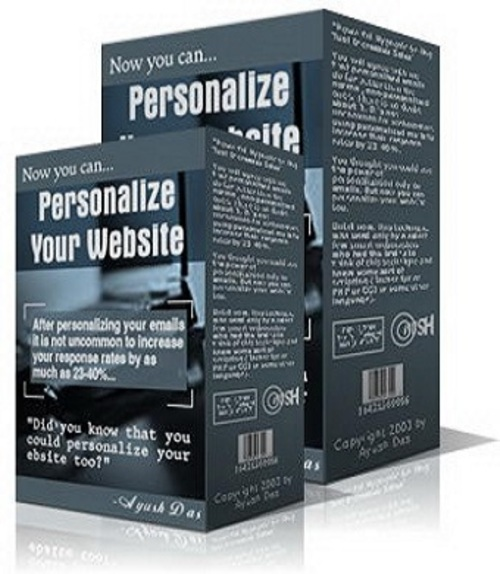 Pay for Personalize Your Website