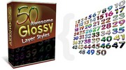 Thumbnail 50 Awesome Glossy Layer Styles With Master Resell Rights