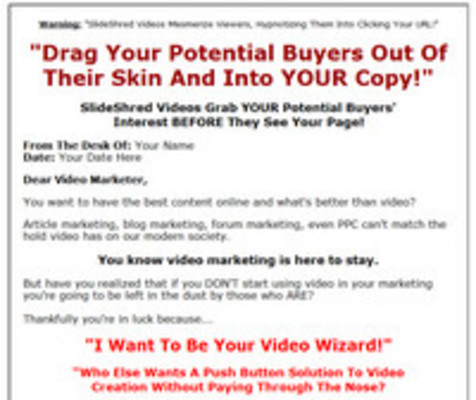 Pay for Slide Shred Niche Videos with Master Resell Rights