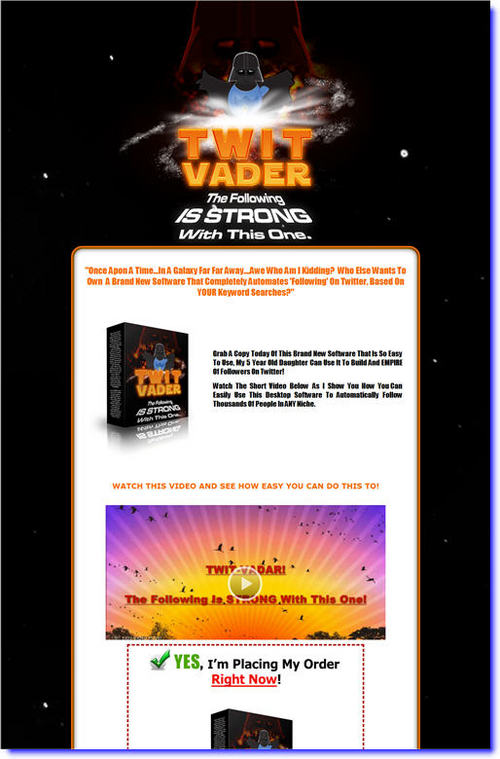 Pay for Twit Vader Comes with Master Resale Rights