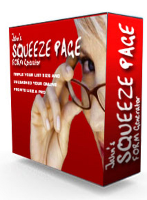 Pay for  Famous Jahns Squeeze Page Form Generator