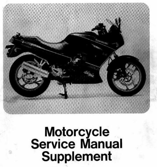 Pay for 88 05 250R GPX250 Service Manual