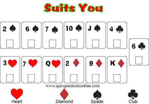 Pay for Suits You Card Game