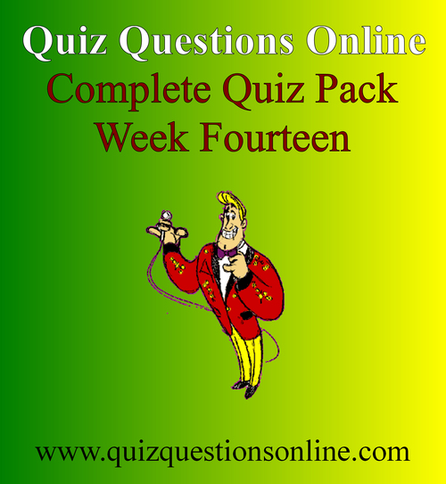 Pay for Quiz Questions Online Week Fourteen Quiz