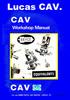 Thumbnail Cav Bryce U size Injector Pump orkshop Maual