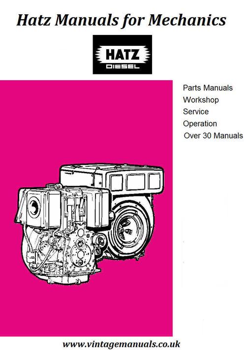 Pay for Hatz E & ES Series Diesel workshop manual