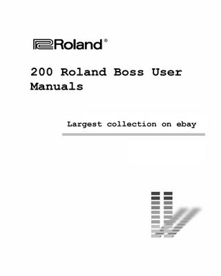 Pay for Giant Roland Boss Manual collection Vol 1