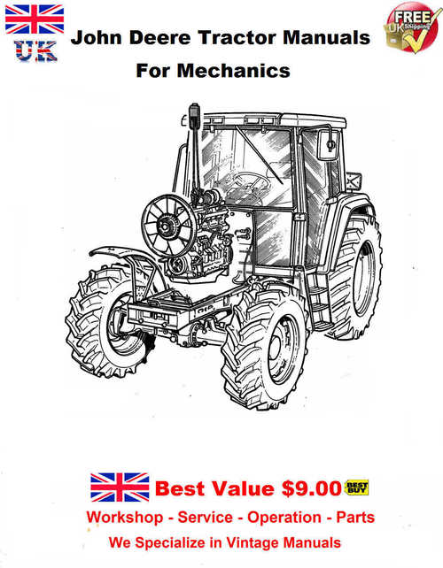 Pay for JD Tractor Manuals for Mechanics