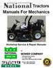 Thumbnail National Tractor Mower manuals for Mechanics