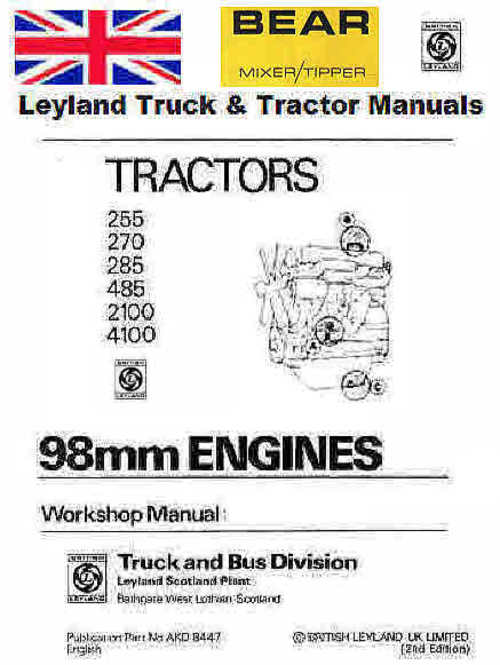 Pay for Leyland Truck & Tractors Vintage service & Repair manuals