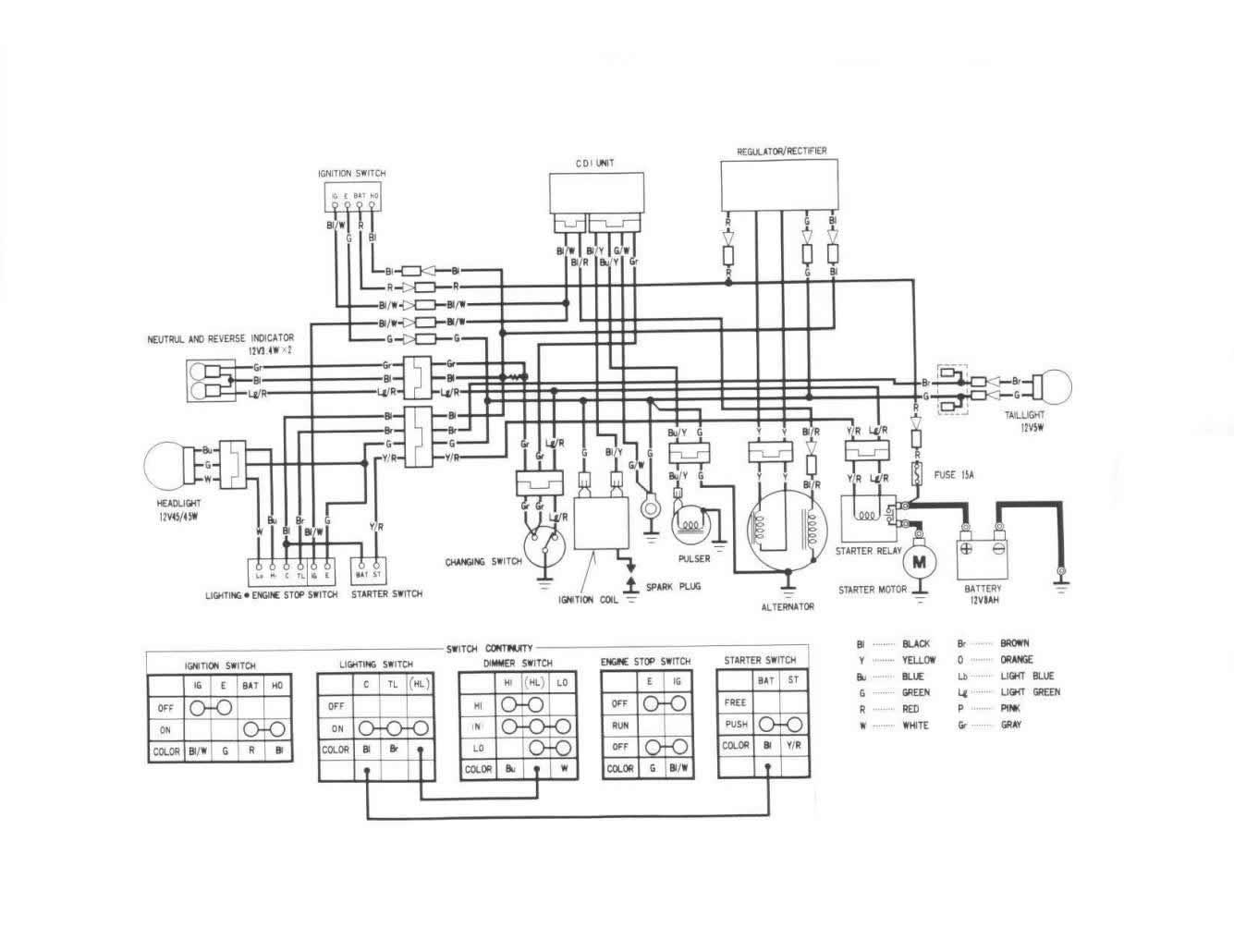 kawasaki 125 wiring diagram