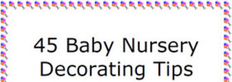 Thumbnail 45 Baby Nursery Decorating Tips