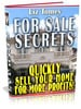 Thumbnail For Sale Secrets - Quickly Sell Your Home For More