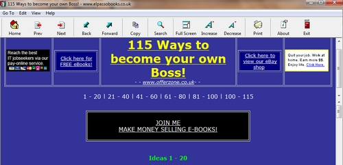 Pay for 115 Ways to become your own Boss!