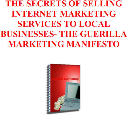 Pay for Selling Internet Marketing Services To Local Businesses