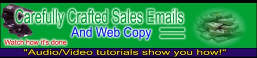 Pay for Carefully Crafted Sales Emails & Web Copy - Video Tutorials