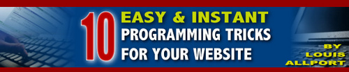 Pay for 10 Easy & Instant Programming Tricks For Your Website