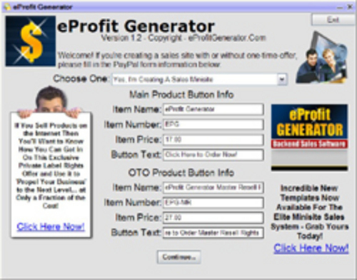 Pay for The E-Profit Generator Package