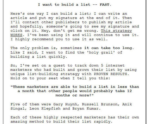 Pay for How 5 Internet Marketing Experts Build Their Opt-In List...