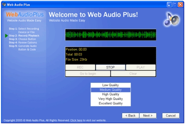Pay for Web Audio Plus - Instantly Add Streaming Audio To Your Site
