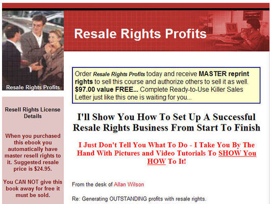Pay for Resale Rights Profits
