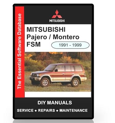 mitsubishi pajero montero workshop manual download manuals rh tradebit com mitsubishi workshop manual engine_4g1_series mitsubishi starwagon workshop manual