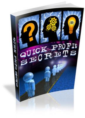 Pay for Quick Profit Secrets - PLR