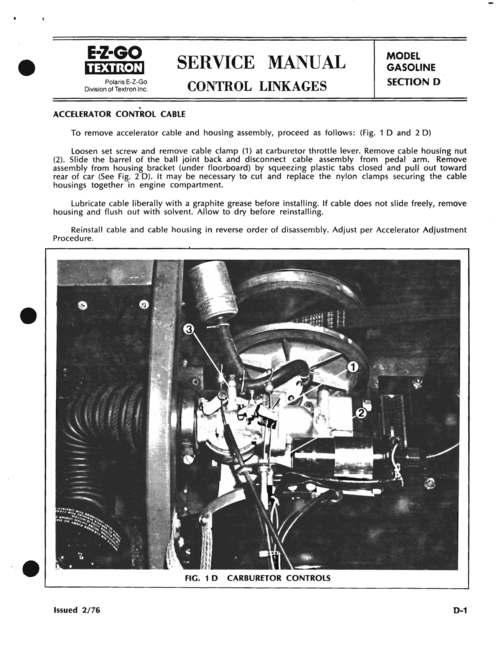 Ez Go Gx440 Gx444 Repair Service Manual 1970-1990