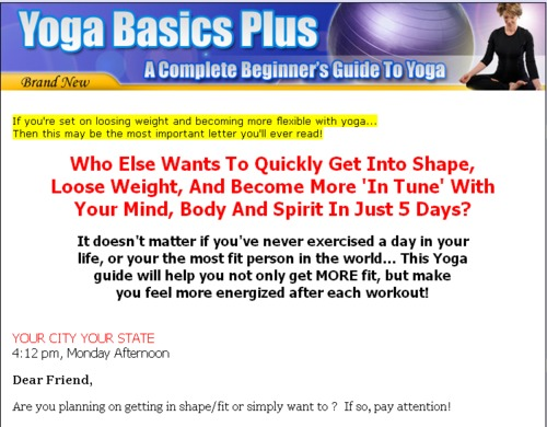 super plr yoga website templates with sales page thank you down