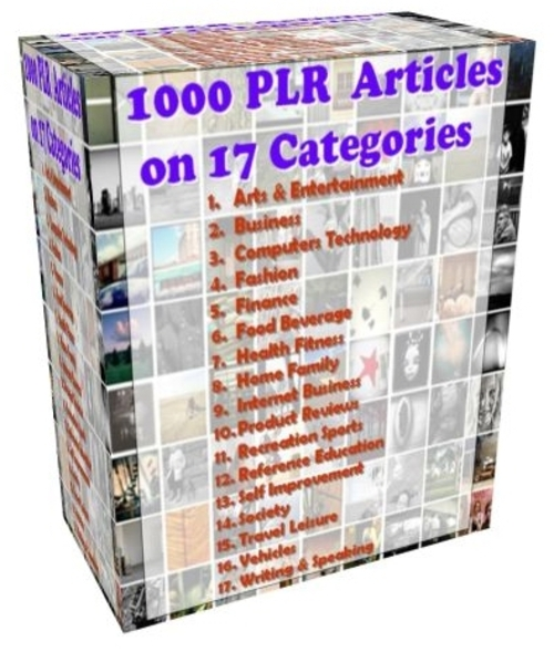 Pay for 1000 High Quality PLR Articles in 17 Different Niches and Ca