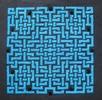 Thumbnail Celtic Knot in Blue on Black
