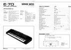 Thumbnail Roland e-70 e70 synthesizer complete service manual
