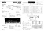 Thumbnail Roland vk09 vk-09 complete service manual