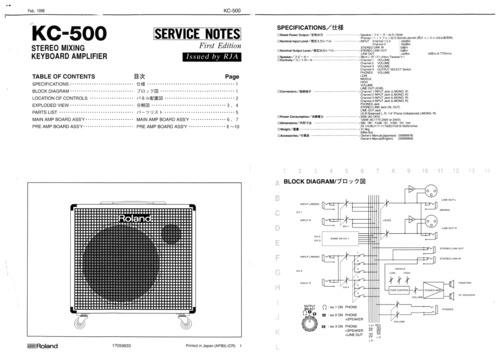 roland kc500 kc 500 kc 500 complete service manual download manua rh tradebit com