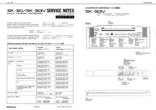 Pay for Roland sk50 sk-50 sk50iv sk-50iv complete service manual