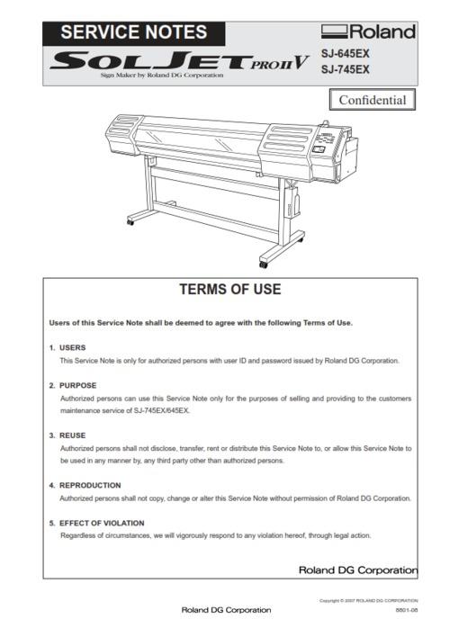 Free Roland soljet pro sj-645ex sj-745ex sj-645 sj service manual Download thumbnail