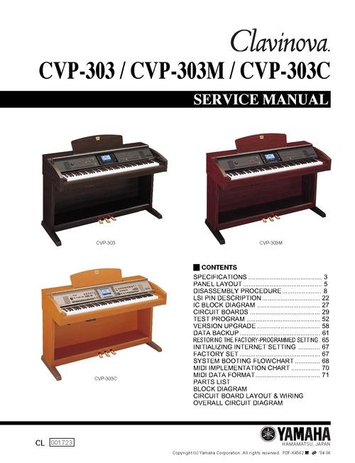 Yamaha cvp 303 cvp303 complete service manual download for Yamaha cvp 303