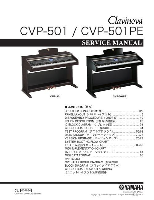 Pay for Yamaha cvp-501 cvp501 cvp complete service manual