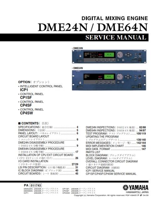 Yamaha Dme Manual